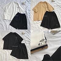 Set Đồ Bộ Thể Thao Nam Nữ Mặc Nhà Thêu Logo Xịn Sò Phong Cách Ulzzang Unisex, Freesize Chất Thun Cotton