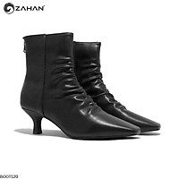 Boots nữ, 5cm, mũi vuông, nhún Boots20