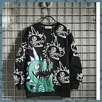 Áo Sweater Nam Nữ ️Đầu Rồng️chất vải Nỉ Form Rộng dáng 1 size dưới 65kg mặc vừa ( unisex nam nữ đều mặc được)