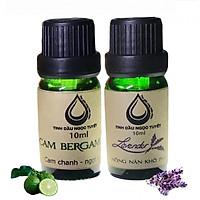 Bộ tinh dầu lọc không khí đem lại sự tươi vui, nhộn nhịp cho gia đình bạn 10mlx2 ( oải hương, cam begamot ) Ngọc Tuyết