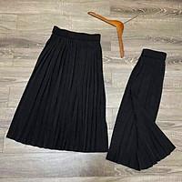 Chân váy dập ly cạp chun dáng dài màu đen thanh lịch