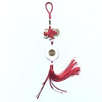 Dây treo như ý đồng xu 5 Yên Nhật, được bện bằng dây đỏ, có kết bình an, đem lại may mắn, thu hút tài lộc - TMT Collection - SP001142