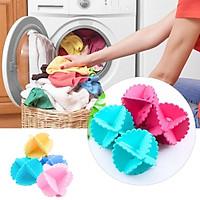 Bộ 6 quả banh giặt nhựa ABS siêu sạch cho quần áo trong máy giặt giảm nhăn nhó bảo vệ sợi vải , phù hợp với mọi gia đình