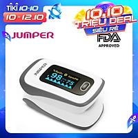Máy đo nồng độ oxy máu và nhịp tim,chỉ số PI Jumper 500F (FDA Hoa Kỳ + xuất USA), Kết nối Bluetooth APP mobile, màn hình OLED