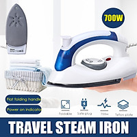 700W Portable Folding Steam Iron Clothes Electric Adjustable Temp Travel