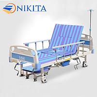 Giường y tế đa chức năng - nâng chân, nâng đầu, nghiêng trái, nghiêng phải, có chổ để bô, có chổ để chậu gội đầu - DCN05