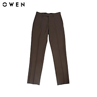 Quần tây nam Owen chất Nano dáng Regularfit màu nâu - QR91255-DBR