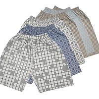COMBO 5 quần short nam xuất khẩu, size lớn từ 45-80kg, nhiều tone màu lựa chọn, chất liệu cotton thoáng mát.
