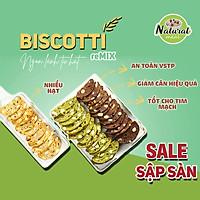 Bánhăn kiêngBiscotti vị vani, bánhăn kiêngkhông đường 500gr - B01 - Mix 3 vị,500 gram
