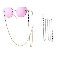 Woman Fashion Colorful Diamond-encrusted Anti-slip Eyeglasses Chain