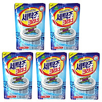 Bộ 5 gói bột tẩy lồng máy giặt Sandokkaebi Korea 450g