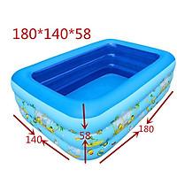 Bể Bơi Phao 3 tầng 1m5 - 1m8 - 2m1 - 2m5 - 2m9 - 3m66 cho gia đình Tặng Kèm Bơm thổi hút 2 chiều