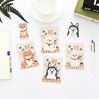 Combo 6 bộ giấy note Chó Shiba Nhật Bản đáng yêu