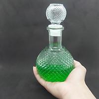 Chai Thủy Tinh đựng Rượu cao cấp 500ML BẦU TRÒN Giác KIM CƯƠNG nổi – Vỏ Chai rượu, bình rượu thủy tinh siêu trong