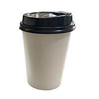 50 cốc giấy trắng có nắp dùng 1 lần 16OZ (480ml)