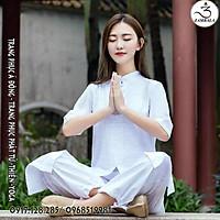 Quần áo phật tử, bộ đồ tập yoga, trang phục cổ trang Zambala - Bộ đồ nữ 3 tà