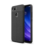 Ốp lưng điện thoại Xiaomi Mi 8 Lite silicone vân da auto - Chính hãng