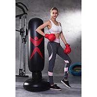 Trụ đấm boxing bơm hơi chân đế đổ nước cao cấp tặng kèm bơm