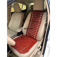 Lót ghế ô tô hạt gỗ 105cm x 45cm - Tặng vòng tay hạt gỗ ( hình thật )