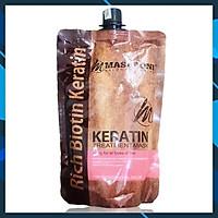 Dầu hấp ủ tóc Masaroni Keratin Treatment mask phục hồi chuyên sâu (dạng túi) Canada 500ml