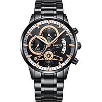 Đồng hồ nam Nibosi 2309-1 dây thép 6 kim lịch ngày cao cấp JS-23091