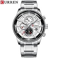 Curren Men Business Watch Fashion Alloy Case Stainless Steel Band Watch Exquisite 3 ATM Waterproof Calendar Quartz Wrist