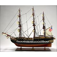 Mô hình thuyền gỗ trang trí phong thủy USS Constitution dài 95cm (hàng cao cấp, không lắp ráp)