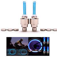 Bộ 2 đèn LED gắn van bánh xe đạp, xe máy, ô tô