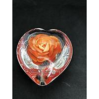 đồ tặng lưu niệm (trái tim hoa hồng) Đk 10cm , cao 4cm