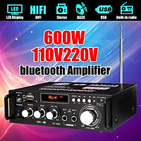 220V 600W HIFI bluetooth Power Amplifier Radio Audio Stereo Karaoke Cinema Home