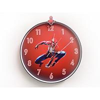 Đồng hồ trang trí treo tường độc đáo NGƯỜI NHỆN, kim trôi, không gây tiếng ồn, sản xuất thủ công
