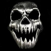 Mặt Nạ Kinh Dị Halloween Bạc KD09003-1
