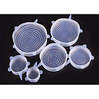 Bộ 6 màng bọc sillicone chịu nhiệt đa năng (Màu trắng)
