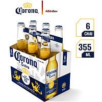 Lốc 6 Chai Bia Corona Extra (355ml x6 Chai)