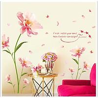 Decal dán tường hoa hồng kích thước lớn sang trọng
