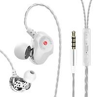 Tai nghe điện thoại Hifi D6 Thiết kế 2 đường tiếng có mic