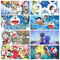 Poster 8 tấm Doraemon Chú mèo máy đến từ tương lai anime chibi tranh treo album ảnh in hình đẹp (MẪU GIAO NGẪU NHIÊN)