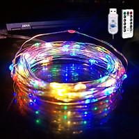 Dây đèn led đom đóm DEHA trang trí nguồn USB kèm điều khiển 8 chế độ nháy nhiều màu
