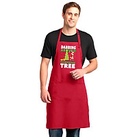 Tạp Dề Làm Bếp In Hình Merry Christmas Kris Kringle Dabbing Santa Suit