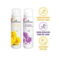 Combo 2 Xịt Khử mùi Enchanteur Charming và Sensation 150ml/Chai