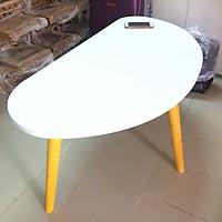 Bàn trà, bàn sofa hột xoài trắng 100x50x45, bàn cafe phòng khách, bàn coffee, bàn gỗ cà phê