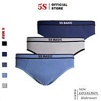 Combo 3 Quần Lót Nam Tam Giác 5S, Chất Cotton Premium Mềm Mịn, Thấm Hút Cực Tốt, Vận Động Thoải Mái (X3-SIP21003BRF)
