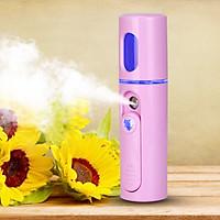 Máy xông mặt phun sương ,xịt khoáng Nano mini cầm tay tiện dụng của WATER LIFE màu hồng