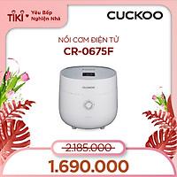 Nồi cơm điện Cuckoo CR-0675FW 1,08L màu trắng - Hàng chính hãng