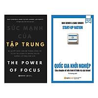 Combo Sách Kỹ Năng Làm Việc Hay : Sức Mạnh Sự Tập Trung + Quốc Gia Khởi Nghiệp - Tặng kèm Bookmark Thiết Kế