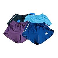 Quần short nữ 2 lớp có túi thể thao tập gym, chạy bộ, cầu lông, tennis