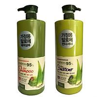 Combo Dầu Gội Và Dầu Xả Tinh Chất Lô Hội Aloe Vera 95% Organia (3L)