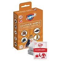 Khăn ướt Läupro LAU & DƯỠNG ĐỒ DA – Läupro Leather với tinh chất Sáp Ong tự nhiên – Hộp 10 gói tiện lợi (Laupro) - Được kiểm nghiệm và chứng nhận!
