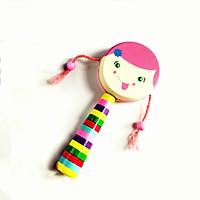 Đồ Chơi Gỗ Skids, Trống lắc búp bê, đồ chơi âm nhạc đem đến bao niềm vui cho bé