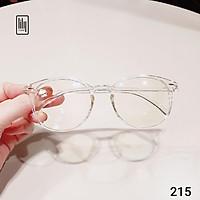 Gọng kính cận Lilyeyewear thiết kế mắt tròn, phụ kiện nam nữ nhiều màu sắc - 215